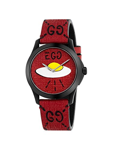 da6b3b95c62 Gucci Ghost G-Timeless Red with UFO Motif Dial Mens Rubber Watch YA1264023