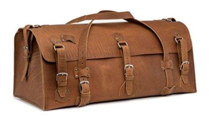 6a195b0b34 Saddleback Leather Beast Duffel - 100% Full Grain Extra Large Leather  Duffle Bag with 100