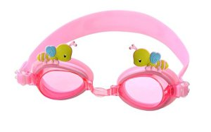 Swimming Goggles for Kids by Goggle Pets; 100% Silicone Straps, Premium Quality Lenses, Anti Fog Scratch Resistant UV Protection