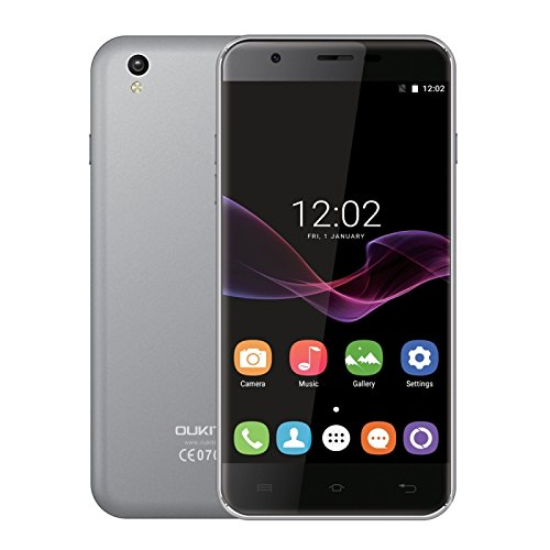 OUKITEL U7 Max 1GB + 8GB 5.5 Inch 2.5D Curved Screen, Android 7.0 OS MT6580A Quad Core 64-bit 1.3GHz WCDMA & GSM (Grey)