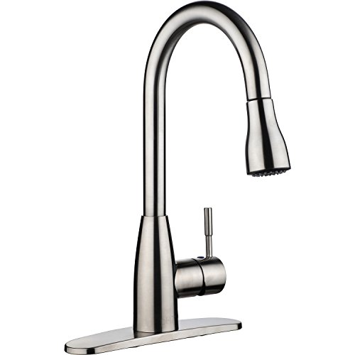Kitmate KT0002 KT0002 Kitchen Faucets, 16.3 x 8.2 x 10.2, Silver