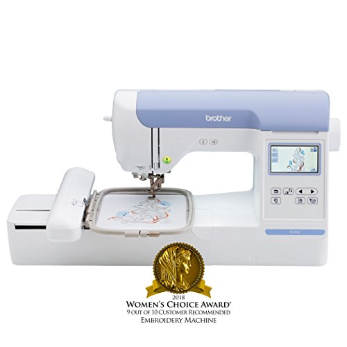 """Brother Embroidery Machine, PE800 5"""" x 7"""", Embroidery-Only Machine with Color Touch LCD Display, USB Port, 11 Lettering Fonts, and 138 Built-In Designs"""