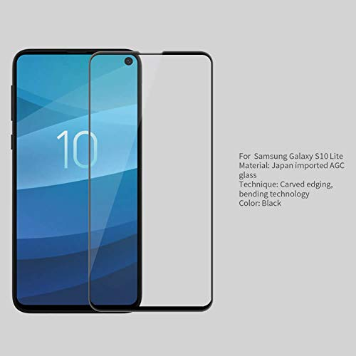 """41r3InImtuL - Nillkin Tempered Glass for Samsung Galaxy S10e S 10e (5.8"""" Inch) 3D CP+ Max Glass 0.1mm Thin Edge Shaterproof Full Screen Coverage Explosion Proof Screen Protect Black Color"""