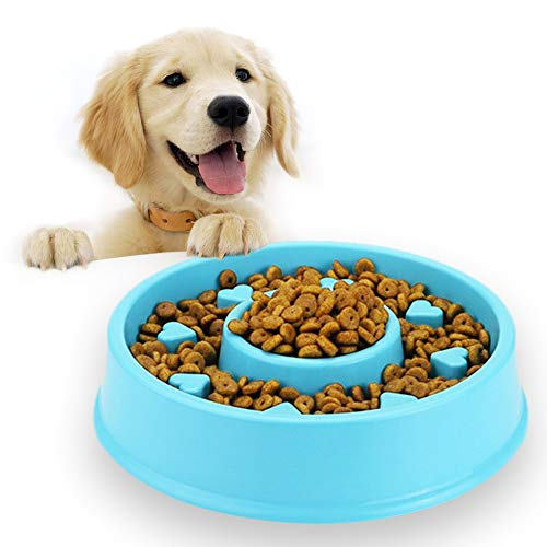 Andiker Pet Interactive Fun Feeder Bowl,Non Slip Puzzle Bowl Fun Feeder,Slow Feeder Bowls are Suitable for Dog & Cat 1