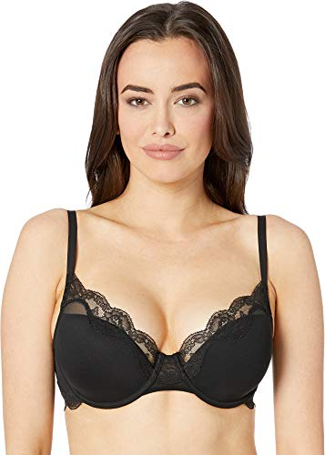 Luxurious, stretch leavers lace creates an applique look along the neckline Power mesh has a lightweight feel that compliments the delicate lace Plush straps and elastic for comfortable support