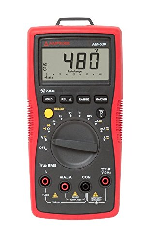 Amprobe AM-530 TRMS Electrical Contractor Multimeter with Non-Contact Voltage Detector and Temperature