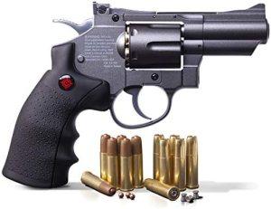 Crosman SNR357 .177-Caliber Pellet/4.5 MM BB CO2-Powered Snub Nose Revolver, Black/Grey