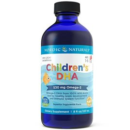 Nordic Naturals Children's DHA Liquid – Strawberry Flavored Fish Oil Supplement Rich In Omega 3 DHA, Supports Heart Health, Brain Development For Children During Critical Years