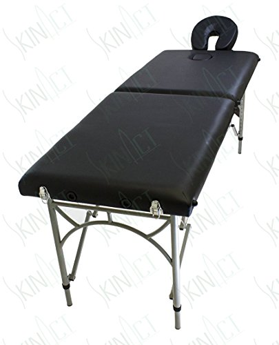 Ultra Light Weight Supreme Edition Massage Table with Aluminium Frame in Black