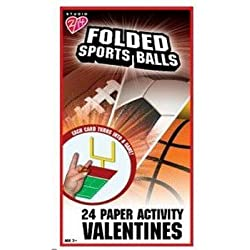 Sports Balls Paper Activity Valentine's Day Cards Party Accessory