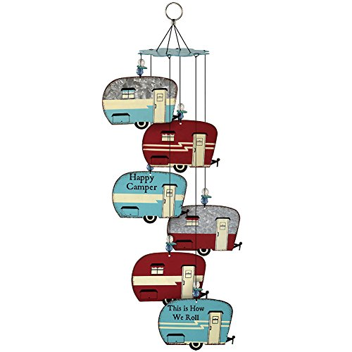 Happy-Campers-Retro-Trailer-Wind-Chimes-6-Weathered-Galvanized-Metal-Signs