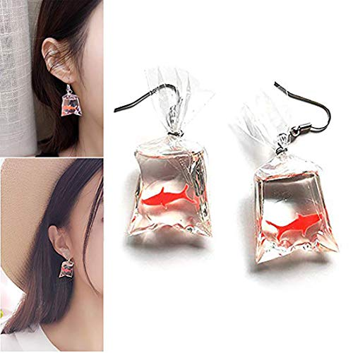 fdc28f7148ebc Glucktrade Womens Girls Funny Lovely Goldfish Water Bag Dangle ...