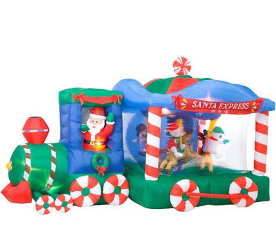 Gemmy Airn Inflatable 12 Feet Foot Long Express Train Rotating Animated