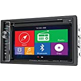 Power Acoustik PDN-626B Double DIN GPS Navigation DVD/CD AM/FM 6.2' Touchscreen, Bluetooth and SD/USB Reader Car Stereo Receiver (Renewed)