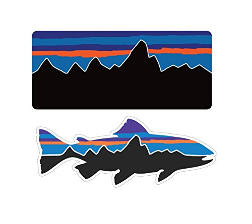 Patagonia Fish Combo Decals Stickers Mountain Camping Travel Adventure Fishing