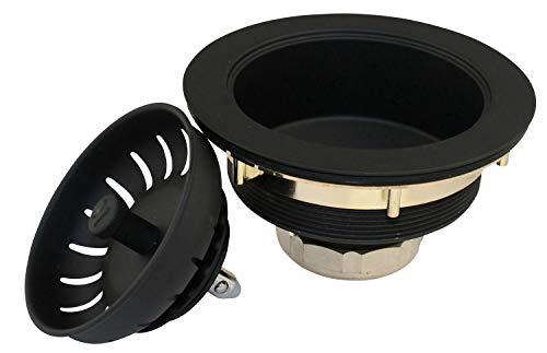 Plumb Pak K1439BLK Keeney Deep Thread Cast Brass Sink Power Ball...