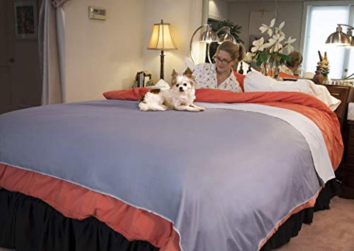 Silly Legacy Reversible Waterproof Protective Cover or Liner for Bed or Couch, for Dogs and Cats (King 82 x 96, Gray)