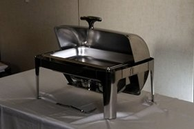 Deluxe-Chafer-Dish-8-quart-capacity-Full-Size-SS--rectangular--Includes-Food-Pan-Water-Pan-and-Fuel-Holders--and-durable-shiny-silver-keeps-food-warm-in-catered-events