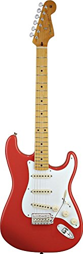 Fender-0131002340-Classic-Series-50s-Stratocaster-Maple-Fingerboard-Electric-Guitar-Fiesta-Red