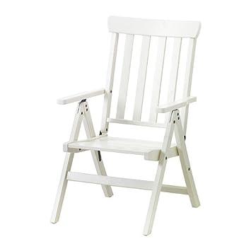 Ikea Angso Fauteuil Inclinable Extérieur Blanc Pliable