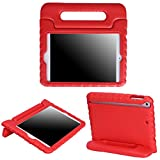 HDE Kids Case for iPad Mini 2 3 -Shock Proof Rugged Heavy Duty Impact Resistant Protective Cover Handle Stand for Apple iPad Mini 1 2 3 Retina (Red)