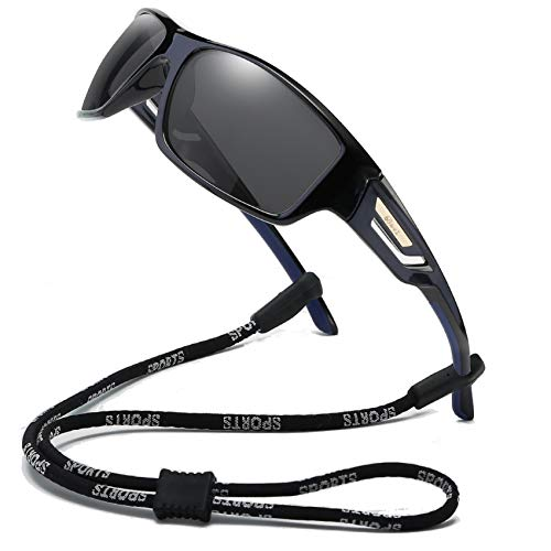 Bevi Polarized Sports Sunglasses TR90 Unbreakable Frame for Men Women Running Cycling Baseball Fishing