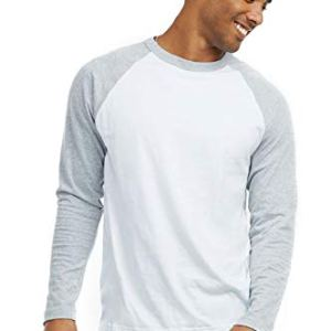Men's Full Length Sleeve Raglan Cotton Baseball Tee Shirt 11
