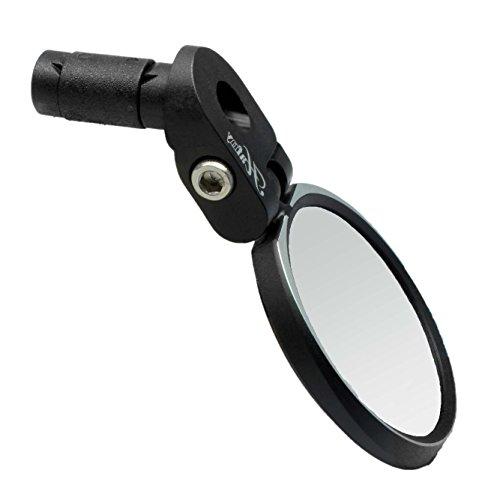 Hafny Bar End Bike Mirror, HD, Blast-Resistant, Glass Mirror, HF- MR090S (Automotive Grade Glass)