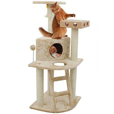 Furhaven Pet Cat Tree   Tiger Tough Cat Tree House Perch Entertainment...