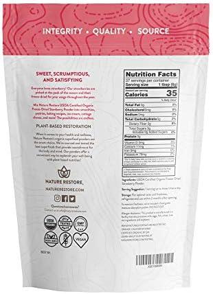 Nature Restore USDA Certified Organic Freeze Dried Strawberry Powder, 8 Ounces, Non GMO, Gluten Free, Vegan 2