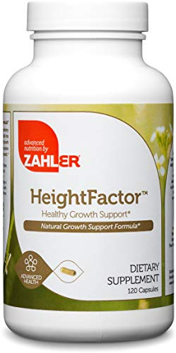 Zahler HeightFactor, Healthy Growth Supplement, Natural Supplement for Growing Taller, Certified Kosher, 120 Capsules