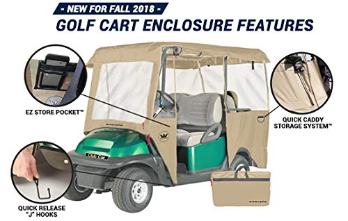 Greenline Drivable Golf Cart Enclosures by Eevelle, Heavy Duty 300D 4 Passenger Universal Fit, Camo