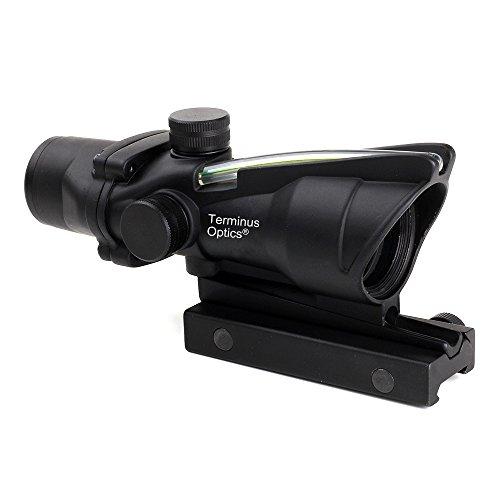Terminus Optics Black AS1 Green True Fiber BDC Reticle 4x32 Magnification Rifle Scope Terminus LLC