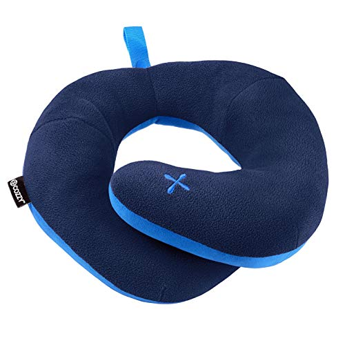 BCOZZY Chin Supporting Travel Pillow- Stops The Head from Falling Forward- Comfortably Supports The Head, Neck and Chin in Any Sitting Position. A Patented Product. Adult Size, Navy