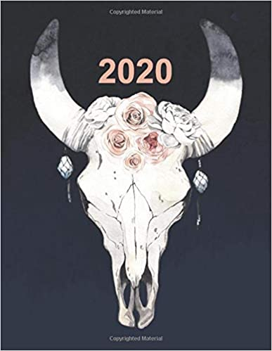 2020 Artists Productivity Planner with Adorned Skull