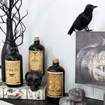 Darware-Large-Skull-Shaped-Candle-Black-475-x-3-Inch-Decorative-Themed-Candles-for-Halloween-Horror-and-Novelty-Decor