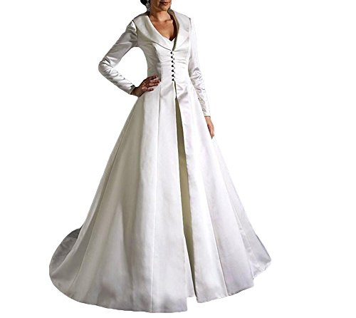 Imported, Coat and inner dress sold separately Satin, buttons decorated Free customization available. True to size and rather comfortable to wear.