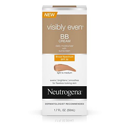 Neutrogena Visibly Even Bb Cream Daily Moisturizer SPF 30, Light-Medium, 1.7 Fl. Oz