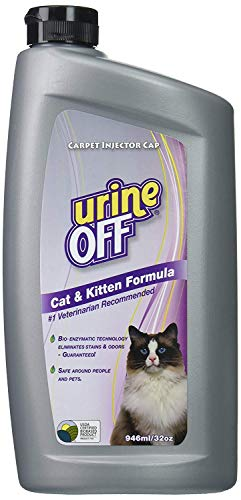 Urine Off Odor and Stain Remover for Cat and Kitten, 32-Ounce Injector Cap