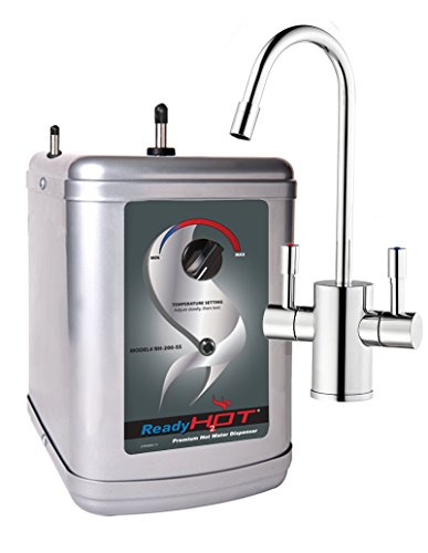 Ready Hot RH-200-F560-CH 41-RH-200-F560-CH Stainless Steel Hot Water Dispenser System, Includes Chrome Dual Lever Faucet, 9 x 8 x 11.5 inches
