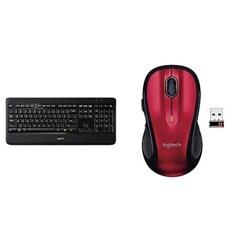 Logitech-K800-Wireless-Illuminated-Keyboard--Backlit-Keyboard-Fast-Charging-Dropout-Free-24GHz-Connection-M510-Wireless-Computer-Mouse--with-BackForward-Buttons-and-Side-to-Side-ScrollingRed