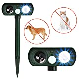 Humutan Dog Repellent, Outdoor Solar Powered Ultrasonic Pest Repellent, Waterproof Animal Repeller Deterrent with Motion Sensor and Flashing Lights for Cats, Dogs, Birds and Skunks and More