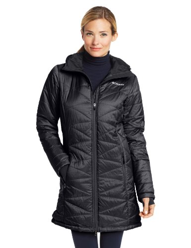 81wpbhouj6L Quilted hooded jacket featuring full-zip front, zippered vertical pockets, and interior media pocket with zipper Omni-Heat thermal reflective and insulated Omni-Shield advanced repellency