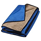 TEEHOME Waterproof Blanket Extra Large for Stadium/Picnic/Camping/Beach and Outdoor Blanket for Couch/Sofa/Bed - All Weather Camping Blanket with Rainproof/Windproof Backing Warm Activities