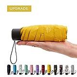 NOOFORMER Mini Travel Sun&rain Umbrella - Light Compact Parasol with 95% UV Protection for Men Women Multiple Colors