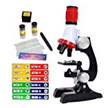 Little World Science Kits for Kids Beginner Microscope with LED 100X 400X and 1200X-Include Sample Prepared Slides 12pc- Educational Toy Birthday Gift