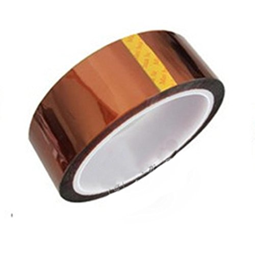 LiPing 33M(118in) High/Low-Temp Kapton Tape Polyimide Film Tape for 3D Printing, Soldering, Insulating Circuit Boards & More (Low-Temp, 30mm(1IN))