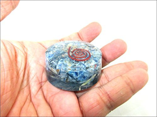 JET Blue Kyanite Orgone Tower Buster Orgonite Piezo Electric EMF Protection Generator Frequency Ions Tested Cloud Chem Buster 40 Page Jet International Crystal Therapy Booklet