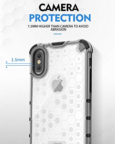 Soezit TPU+PC Dual Layer Honeycomb Pattern Shockproof Back Case Cover for Oppo F11 Pro - Black 10
