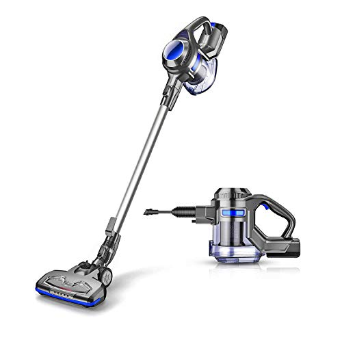 MOOSOO Cordless Vacuum 10000pa Upgraded Powerful Suction 2 in 1 Stick and Handheld Vacuum Cleaner for Home Hard Floor Carpet Car Pet - XL-618A (2019 Upgraded New Version)